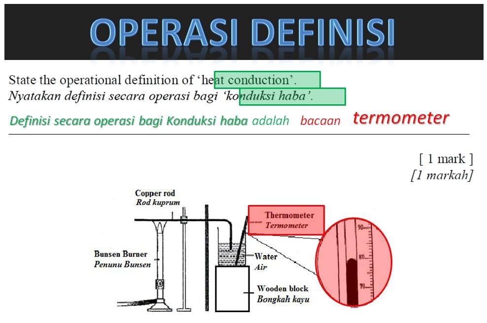 Teknik Menjawab Soalan 7 Dan 8 Kertas 2 Sains Pmr Definisi Operasi