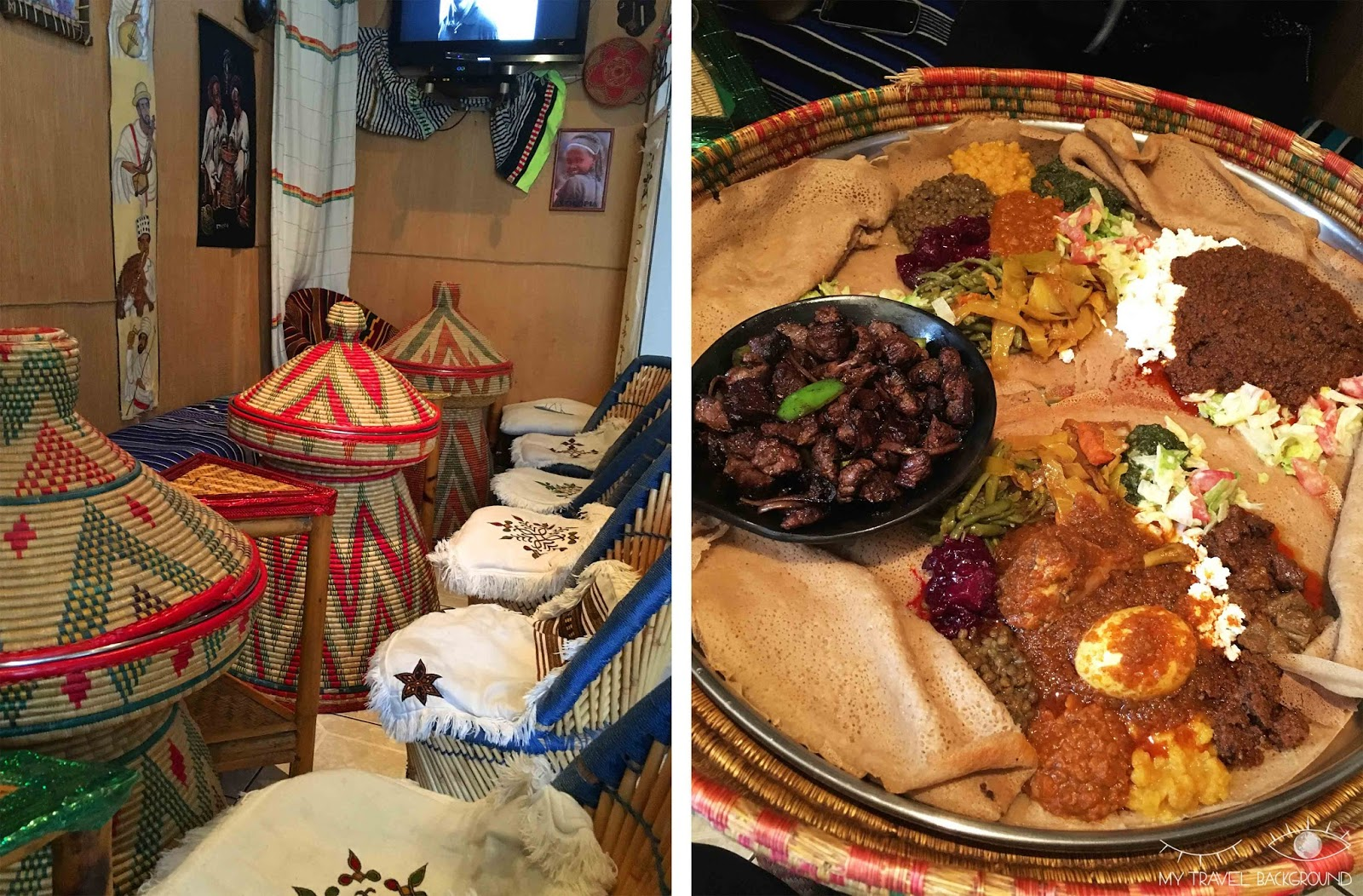 My Travel Background : 13 restaurants parisiens qui font voyager les papilles, Ethiopie Habesha