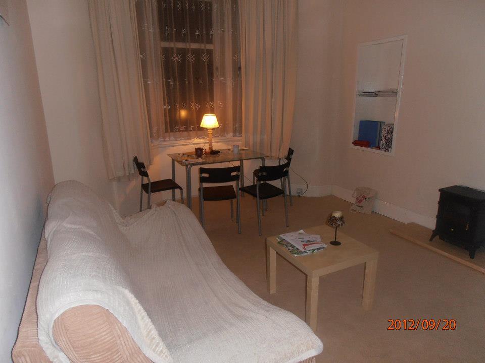 Glasgow-i lakás nappali