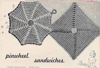 Crochet square pinwheel potholder pattern