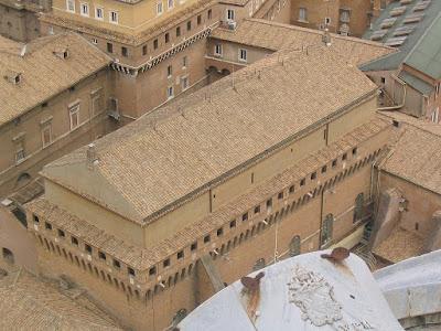 capela sistina exterior - Dez Curiosidades sobre o teto da Capela Sistina