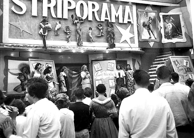 STRIPORAMA burlesque at the 1947 Canadian National Exhibition in Toronto, a photograph
