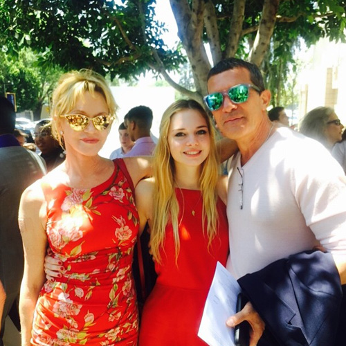 Antonio Banderas and Melanie Griffith attended the graduation daughter
