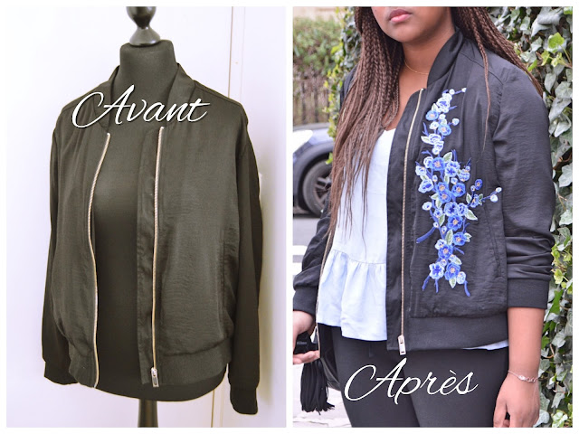 customisation bomber fleuri