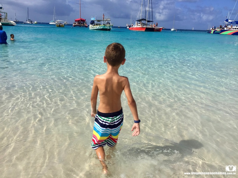 Barbados com criança