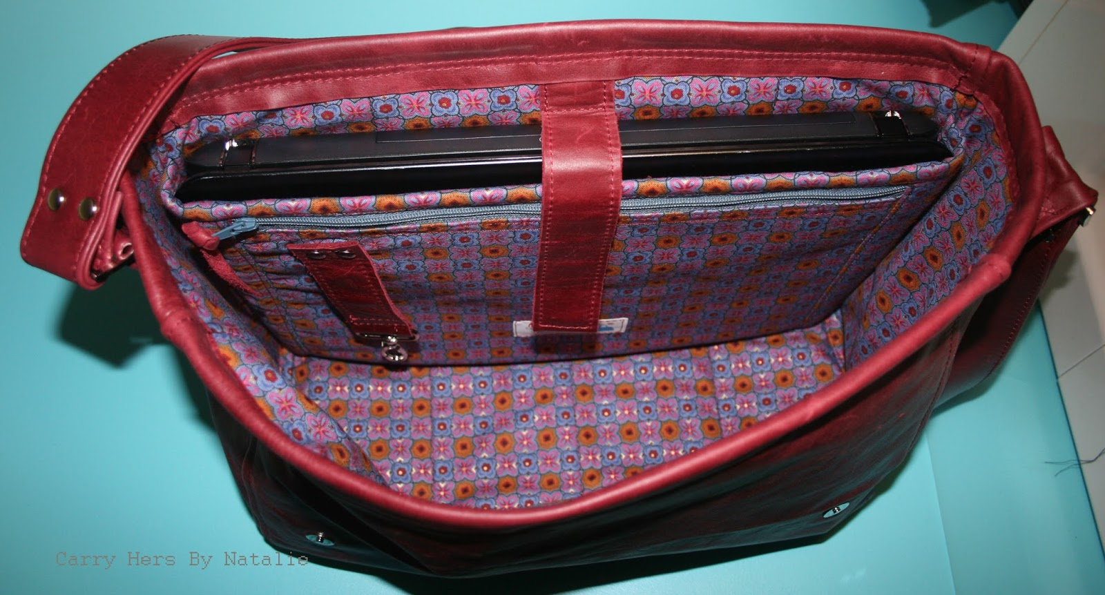 845a21c9bd61 Carry Hers By Natalie: Leather Messenger Bag......Sewing Summit here ...
