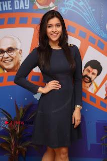 Actress Mannara Chopra Stills in Blue Short Dress at Rogue Song Launch at Radio City 91.1 FM  0023.jpg