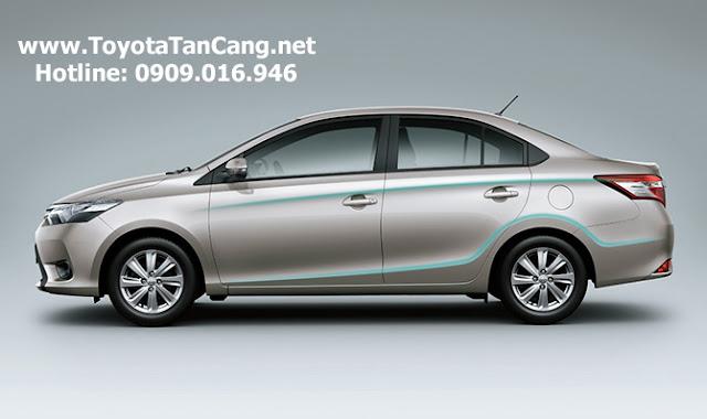 Toyota Vios 2015 được thiết kế khí động học nhằm tiết kiệm nhiên liệu tối đa