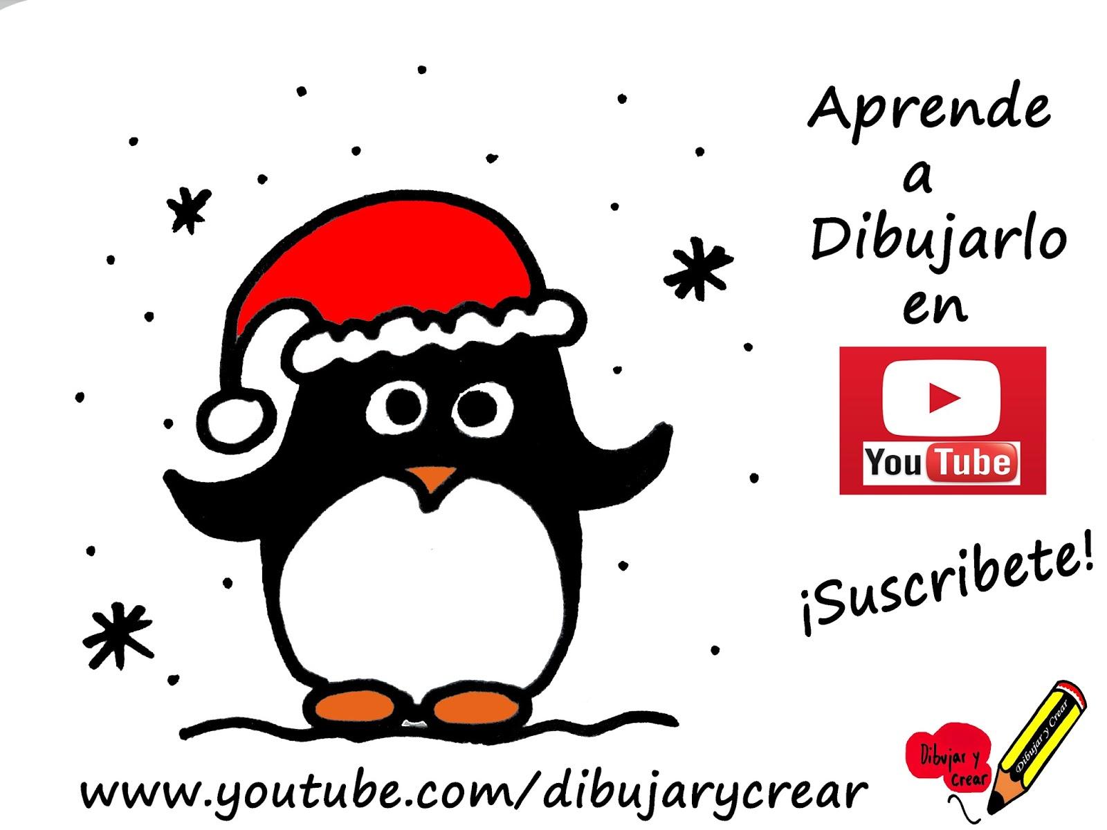 Dibujar Y Crear Como Dibujar Un Pinguino Navideño