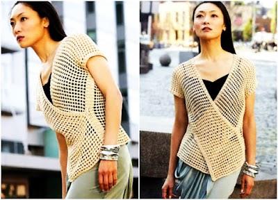 Chaleco Tokio Crochet Tunecino Patron