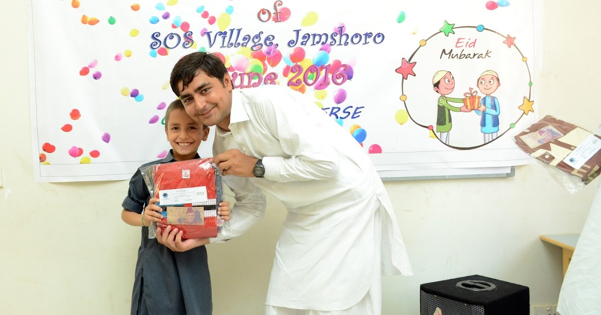 EID Celebration with Orphan children of SOS village, Jamshoro