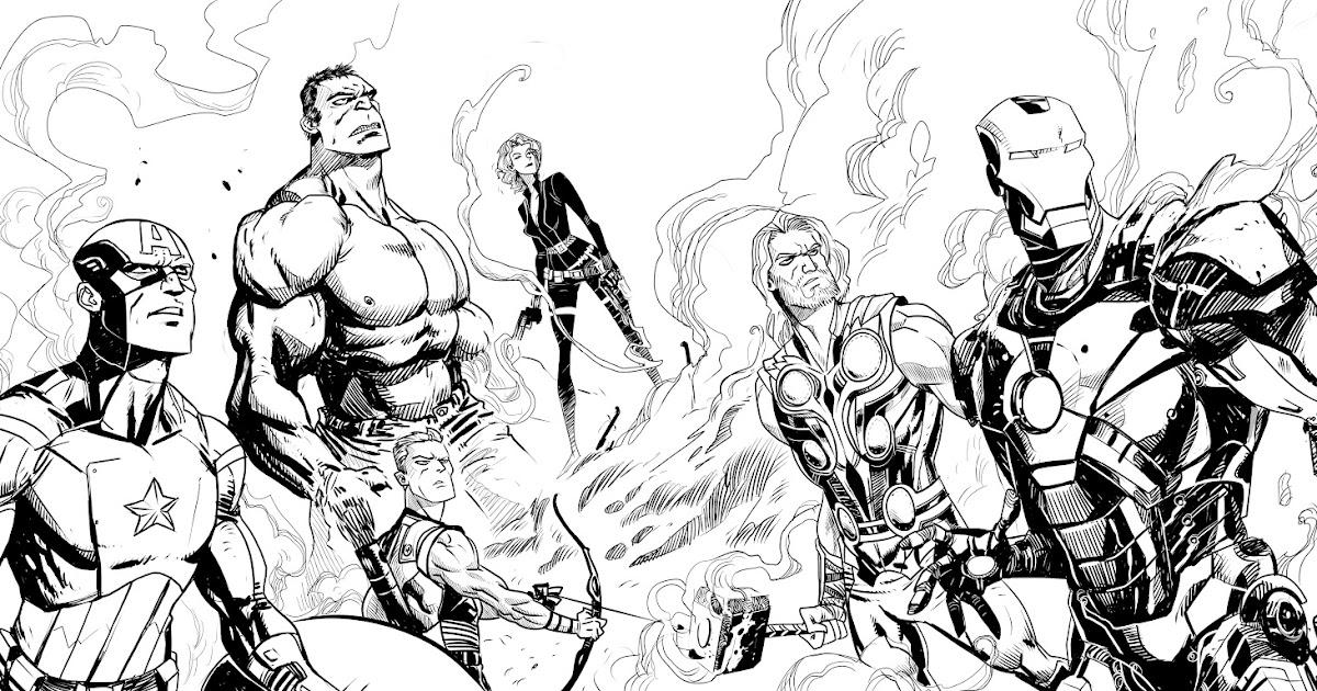 Dibujo Facil: Los Vengadores Para Colorear