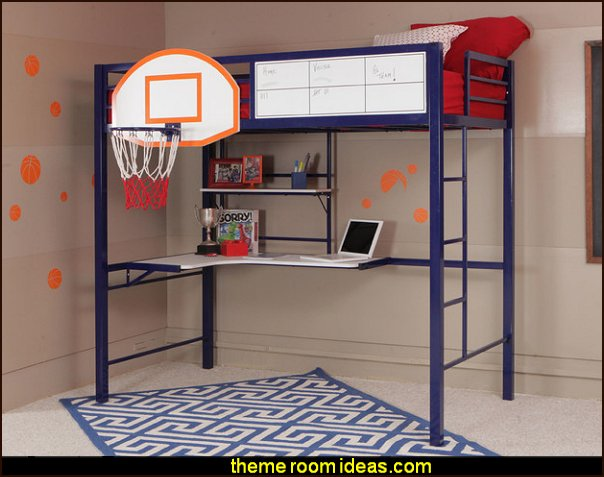 Hoops Basketball Bed Bunk Bed   basketball bedroom ideas - Basketball Decor - basketball wall murals - basketball bedding - basketball wall decal stickers - basketball themed bedrooms - basketball bedroom furniture - basketball wall decorations - Basketball wall art - Basketball themed rooms - basketball bedroom furniture - NBA bedding - Boys basketball theme  -  Basketball  rugs - basketball throw pillows
