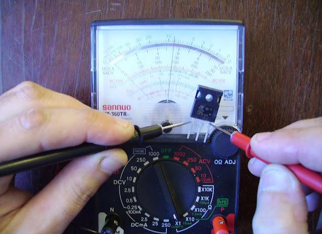 проверка транзистора стрелочным тестером