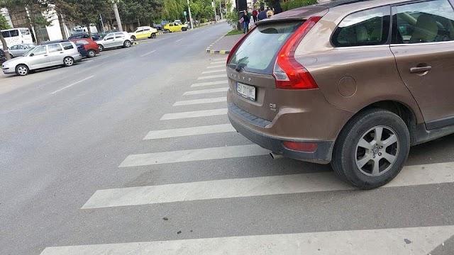 FOTO Președintele PSD Suceava a parcat pe trecerea de pietoni