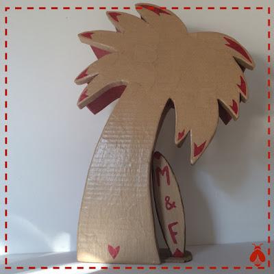 boîte en carton palmier