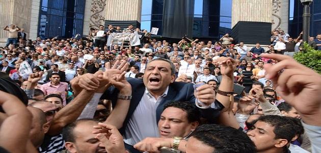 نص بيان اجتماع الصحفيين اليوم الى الشعب المصري العظيم