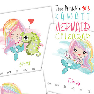 free 2018 Kawaii calendar