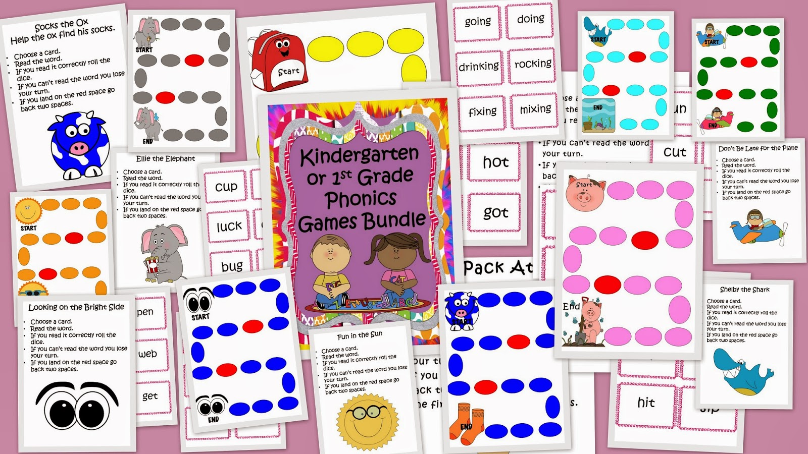 Learning With Firsties Huge Phonics Games Bundle