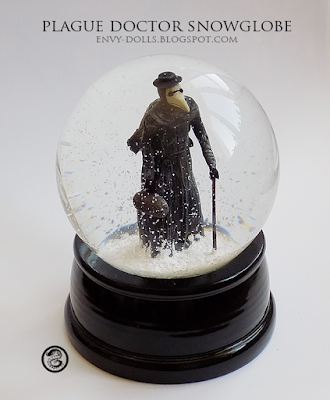 plague doctor snowglobe