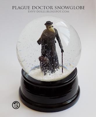 plague doctor snowglobe