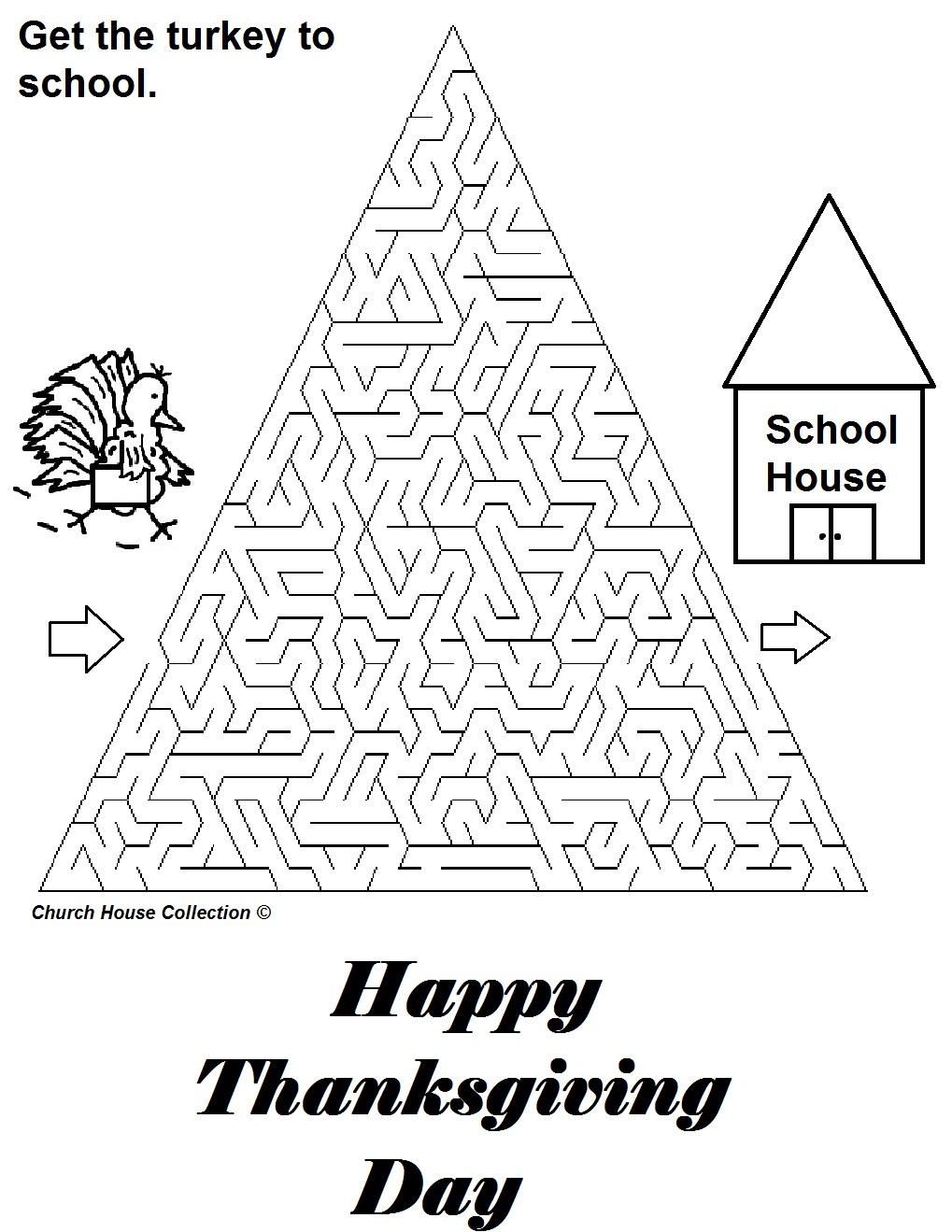 Church House Collection Blog Turkey Mazes For School Teachers