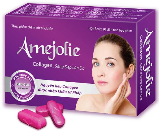 Amejolie Collagen - Da sáng đẹp, tóc và xương khớp chắc khỏe.