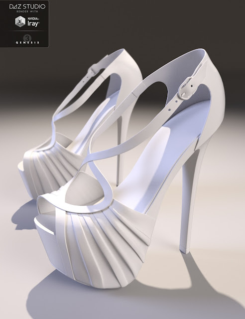 Ava High Heels for Genesis 3 Female