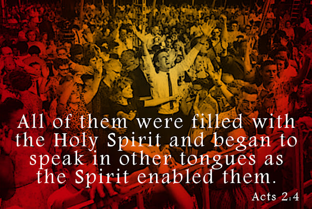 Acts 2:4 - All of them were filled with the Holy Spirit and began to speak in other tongues as the Spirit enabled them.