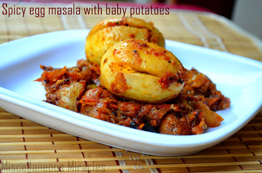 SPICY EGG MASALA WITH BABY POTATOES