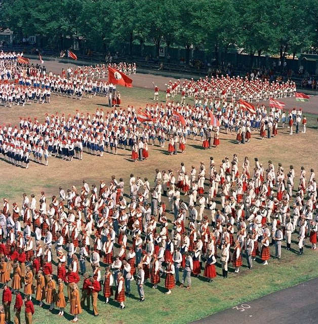 1970-е годы. Рига. Праздник песни и танца (Источник фото: F64