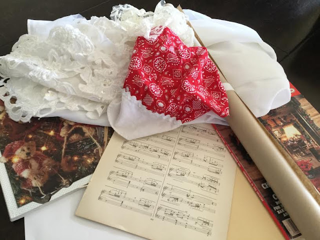 Materials for making homemade gift wrap