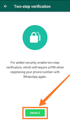 secure WhatsApp from hackers step 5