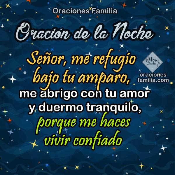 Oración al dormir en la noche, frases cortas con oraciones para la hora de descansar, buenas noches Dios, imágenes con plegarias por Mery Bracho.