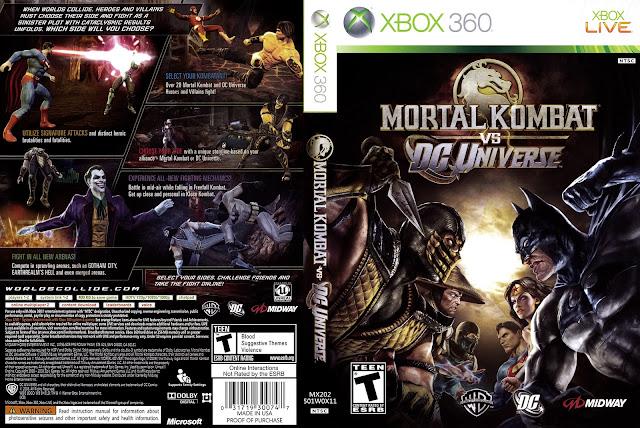 Capa Mortal Kombat vs. DC Universe Xbox 360