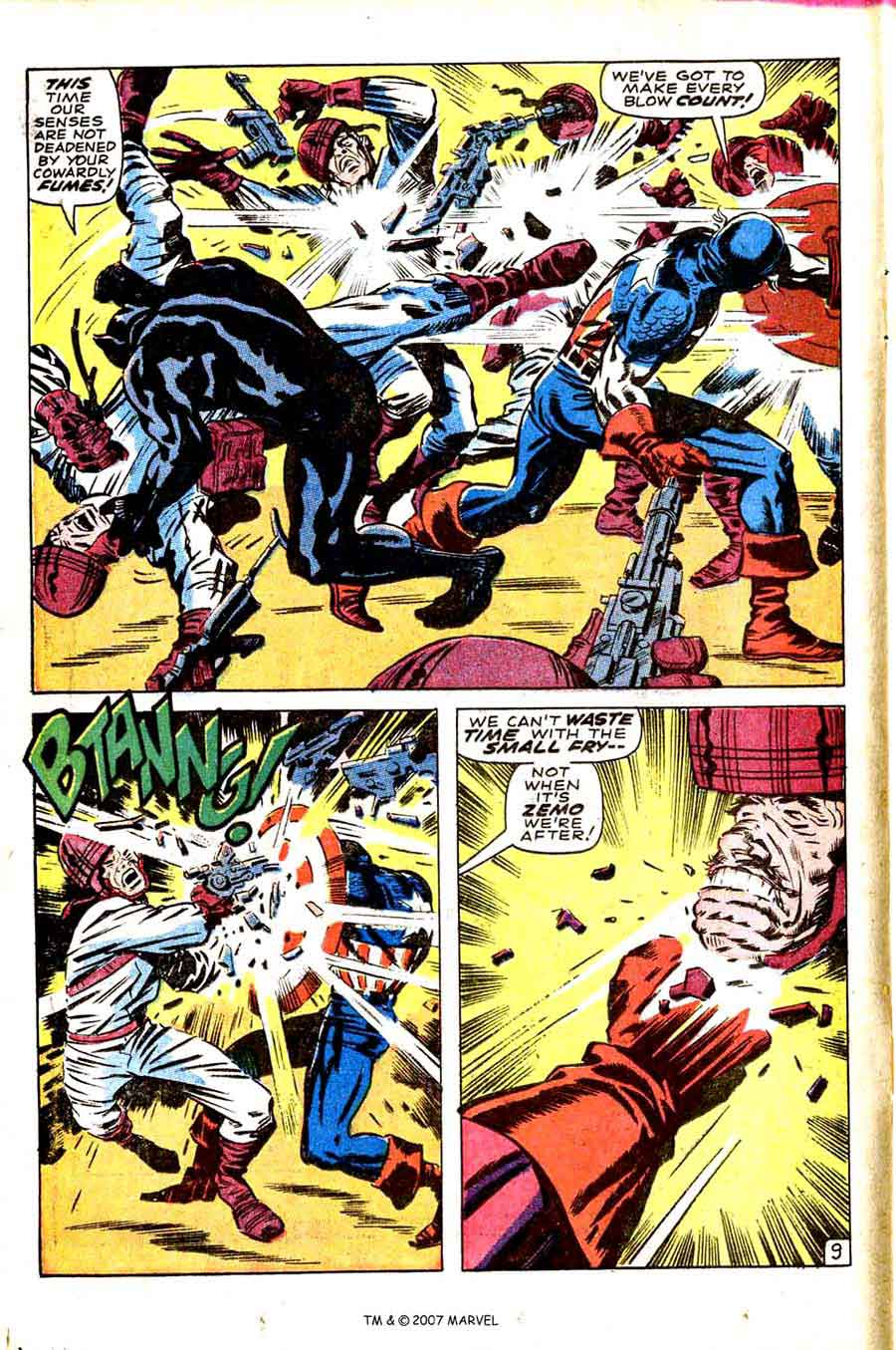 Captain America v1 #100 marvel comic book page art by Jack Kirby