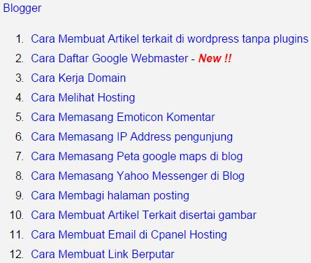 Cara Membuat Daftar Isi Blog Website Jasa Setting Blog Website Bege