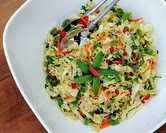 Asian Slaw with Sugar Snap Peas & Almonds (A Veggie Venture)