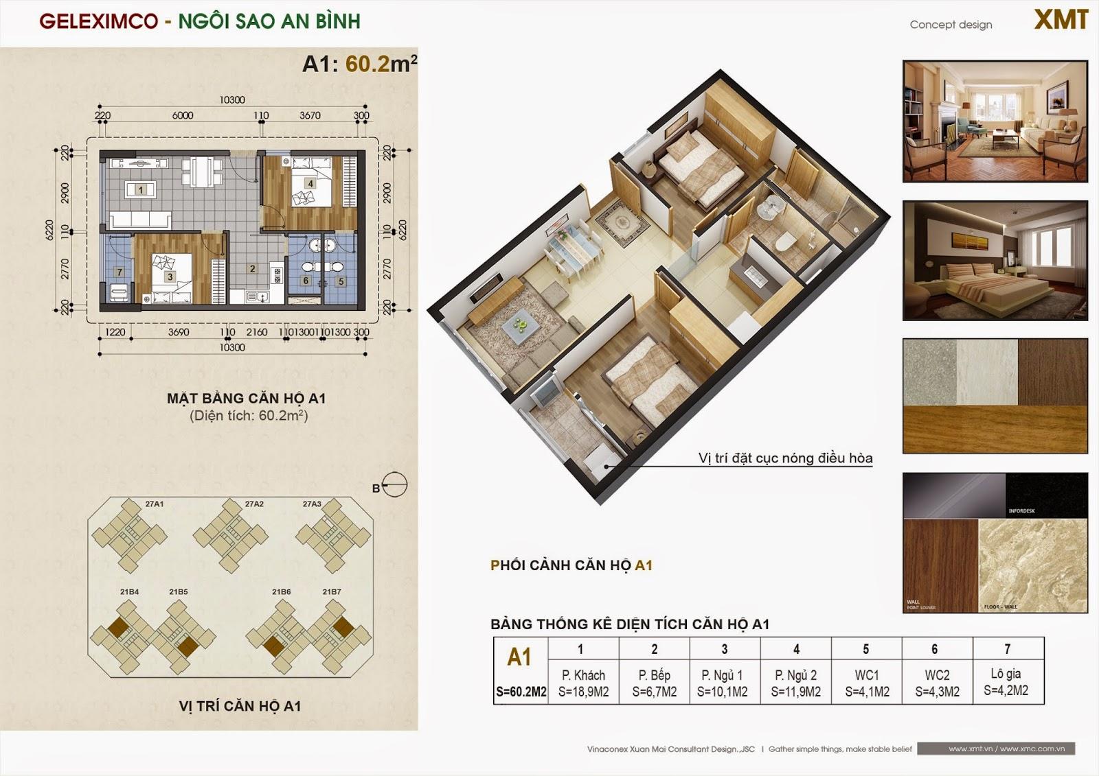 Chung cư Green Star - căn hộ 60.2m2
