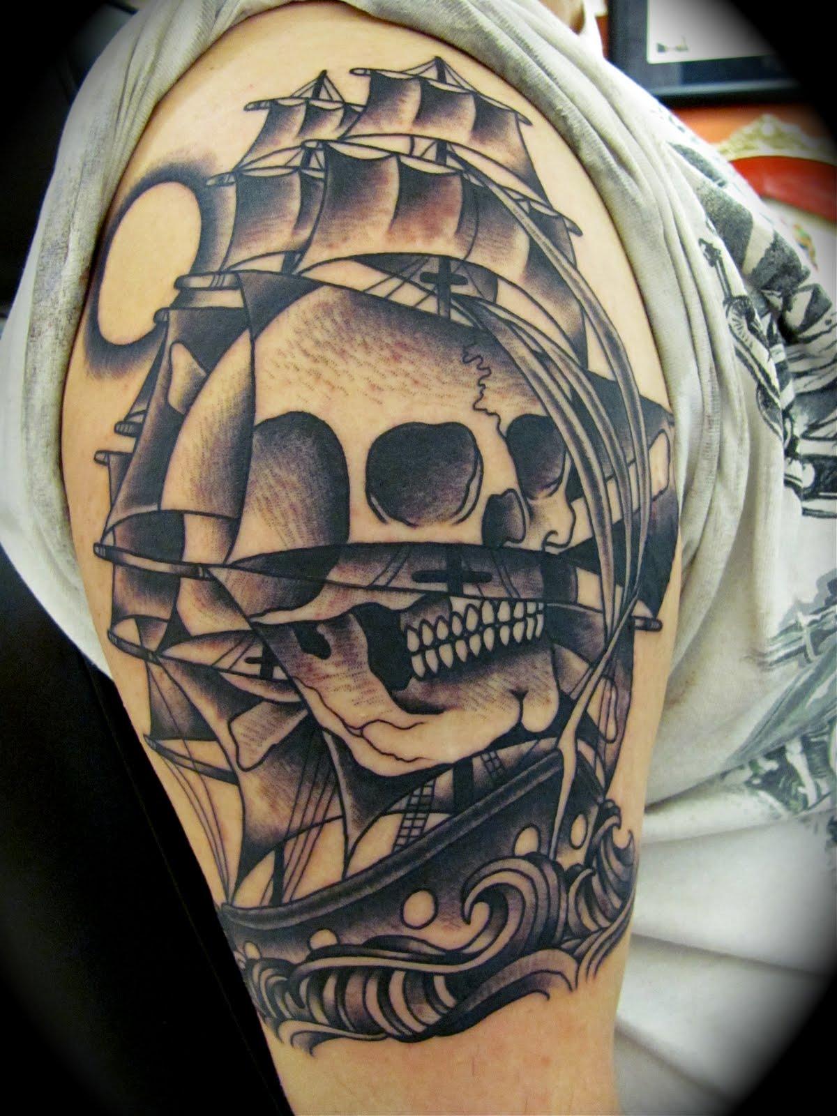 30 Ship Tattoos | Tattoofanblog  |Pirate Ship Tattoo