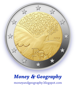 France 2 Euro coin (year 2015) celebrating the 70th Anniversary of World War II's end — original image (without PNG modification) from Coin World