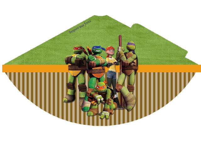 Gorros para imprimir gratis de Tortugas Ninja.
