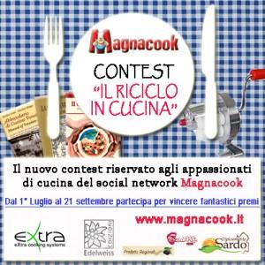 """Immagine del logo contest Magnacook """"Il riciclo in cucina"""""""
