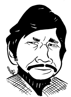 Charles Bronson caricature by Ian Davy Brown