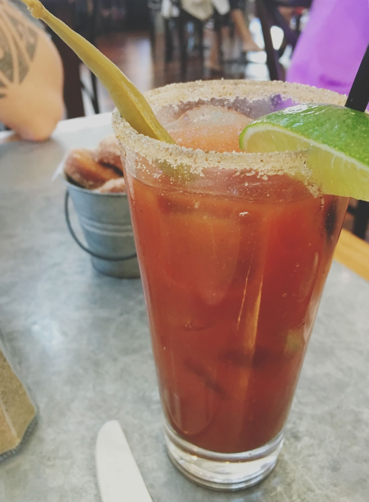 bloody mary at Boon Fly Cafe - a restaurant in Sonoma, California