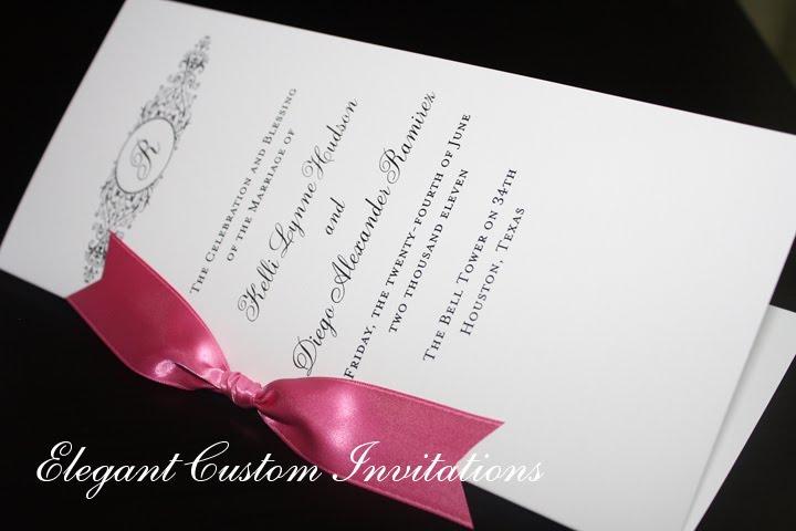 gate fold Isabella Invitations