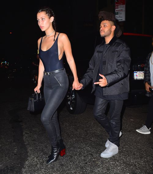 first official pictures: Bella Hadid & muffeliger rapper friend
