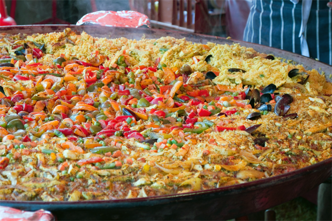 A seriously large paella.
