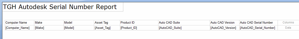 Autodesk Serial Number Report