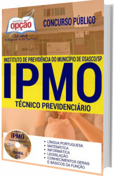 Apostila concurso IPMO 2017 Técnico Previdenciário